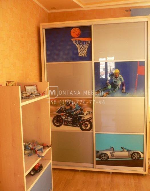 Шкаф купе в детскую, фотопечать
