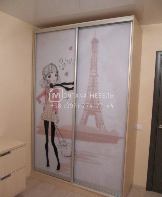 SD-035 Шкаф купе на заказ в детскую комнату